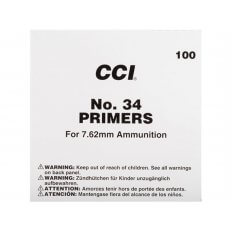 CCI 7.62mm NATO-Spec Military Primers M34- Box of 1000 (HAZMAT Fee Required)