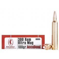 Nosler Trophy Grade .300 Remington Ultra Magnum 180 Gr. AccuBond 60065