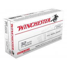 Winchester USA .32 ACP 71 Gr. Full Metal Jacket- Box of 50