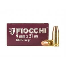 Fiocchi Shooting Dynamics 9x21mm IMI 123 Gr. Full Metal Jacket Truncated Cone- Box of 50