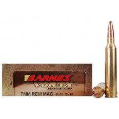 Barnes VOR-TX 7mm Remington Magnum 160 Gr. TSX Bullet Boat Tail Lead-Free- Box of 20