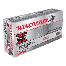 Winchester Super-X .22-250 Remington 55 Gr. Pointed Soft Point- Box of 20