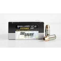 SIG SAUER Elite Performance 9mm Luger 147 Gr. V-Crown JHP- Box of 20