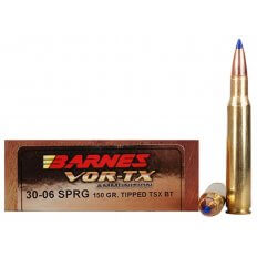 Barnes VOR-TX .30-06 Springfield 150 Gr. Tipped TSX Bullet Boat Tail- Lead-Free- Box of 20