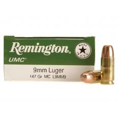 Remington UMC 9mm Luger 147 Gr. Full Metal Jacket- Box of 50