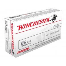 Winchester USA .25 ACP 50 Gr. Full Metal Jacket- Box of 50
