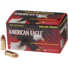 Federal American Eagle 9mm Luger 115 Gr. FMJ- Box of 100
