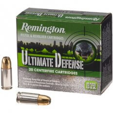 Remington HD Ultimate Defense 9mm Luger 124 Gr. Brass Jacketed Hollow Point- Box of 20
