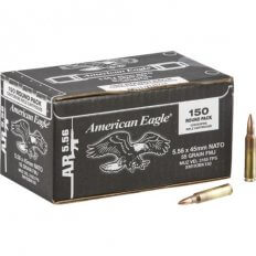 Federal American Eagle 5.56x45mm NATO 55 Gr. XM193 Full Metal Jacket Boat Tail XM193BK150