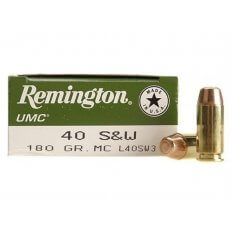 Remington UMC .40 S&W 180 Gr. Full Metal Jacket- Box of 50