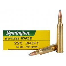 Remington Express .220 Swift 50 Gr. Pointed Soft Point- Box of 20
