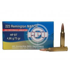 Prvi Partizan Match .223 Remington 75 Gr. Hollow Point Boat Tail- Box of 20