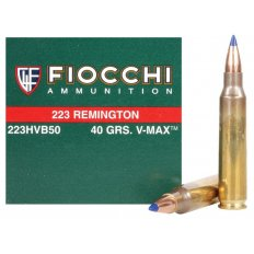 Fiocchi Extrema .223 Remington 40 Gr. Hornady V-Max- Box of 50