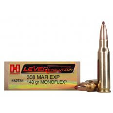Hornady LEVERevolution .308 Marlin Express 140 Gr. Gilding Metal MonoFlex- Lead-Free- Box of 20