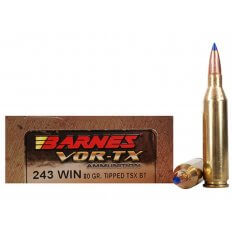 Barnes VOR-TX .243 Winchester 80 Gr. Tipped TSX Bullet Boat Tail- Lead-Free- Box of 20