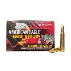 Federal American Eagle Varmint & Predator .223 Remington 50 Gr. Jacketed Hollow Point-AE22350VP