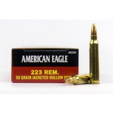 Federal American Eagle .223 Remington 50 Gr. Jacketed Hollow Point- Box of 20