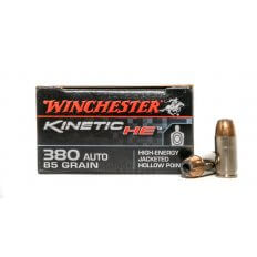 Winchester Kinetic HE .380 Auto 85 Gr. High-Energy Jacketed Hollow Point- HE380JHP