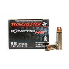Winchester Kinetic HE .38 Special 110 Gr. High-Energy Jacketed Hollow Point- HE38JHP