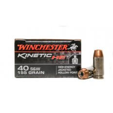 Winchester Kinetic HE .40 S&W 155 Gr. High-Energy Jacketed Hollow Point- Box of 20