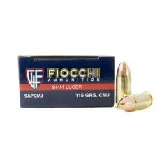 Fiocchi Shooting Dynamics 9mm Luger 115 Gr. Complete Metal Jacket- Box of 50