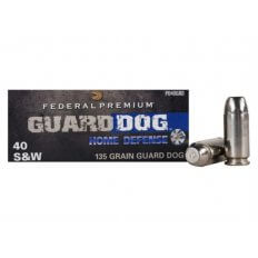 Federal Premium Guard Dog Home Defense .40 S&W 135 Gr. Expanding Full Metal Jacket- Box of 20