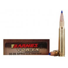 Barnes VOR-TX .30-06 Springfield 168 Gr. Tipped TSX Bullet Boat Tail Lead-Free- Box of 20