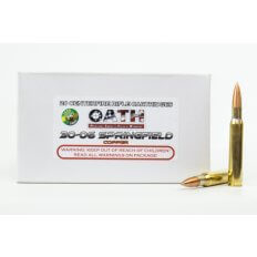 OATH Match Grade .30-06 Springfield 180 Gr. Copper Solid Lead-Free Match- Box of 20