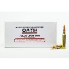 OATH Halo .308 Winchester 165 Gr. Copper Solid Lead-Free Match- Supersonic- Box of 20