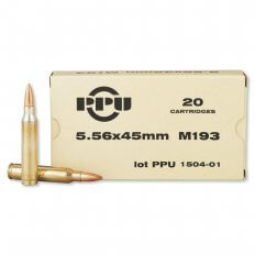 Prvi Partizan 5.56x45mm 55 Gr. NATO M193 Full Metal Jacket PP5.21