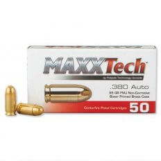 MAXXTech .380 Auto 95 Gr. Full Metal Jacket