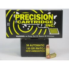 PCI .38 Auto 130 Gr. Round Nose TCJ- Box of 50