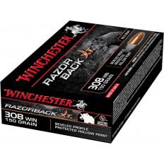 Winchester Razorback XT .308 Winchester 150 Gr. Hollow Point- Lead-Free- Box of 20