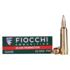 Fiocchi Shooting Dynamics .22-250 Remington 55 Gr. Pointed Soft Point- Box of 20
