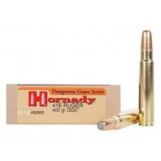 Hornady Dangerous Game .416 Ruger 400 Gr. DGX Flat Nose Expanding- Box of 20