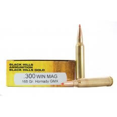 Black Hills Gold .300 Winchester Magnum 165 Gr. Hornady GMX- Lead-Free- Box of 20