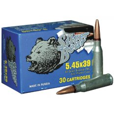 Silver Bear 5.45x39 60 Gr. FMJ (Bi-Metal)- Case of 750