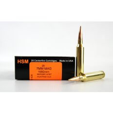 HSM Trophy Gold 7mm Remington Magnum 168 Gr. Berger Hunting VLD Hollow Point Boat Tail- Box of 20