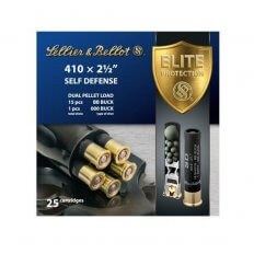 "Sellier & Bellot Self Defense .410 Bore 2-1/2"" 000 Buckshot 1 Pellet/ BB Buckshot 15 Pellets- Box of 25"