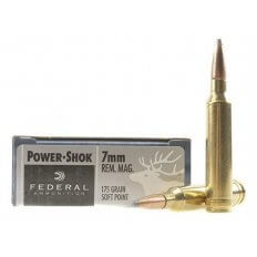 Federal Power-Shok 7mm Remington Magnum 175 Gr. Soft Point- Box of 20