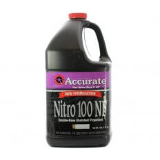 Accurate Nitro 100 New Formulation Smokeless Powder- 4 Lbs. (HAZMAT Fee Required)