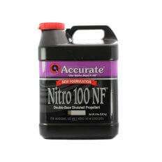 Accurate Nitro 100 New Formulation Smokeless Powder- 8 Lbs. (HAZMAT Fee Required)