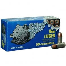 Silver Bear 9mm Luger 145 Gr. Sub-Sonic JHP (Bi-Metal)- Box of 50