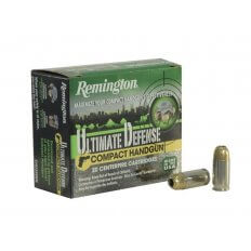 Remington Compact Handgun Defense .40 S&W 180 Gr. Brass Jacketed Hollow Point- Box of 20