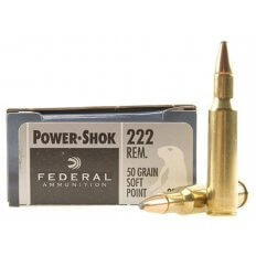 Federal Power-Shok .222 Remington 50 Gr. Soft Point- Box of 20