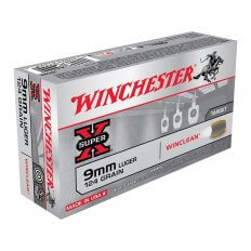 Winchester USA WinClean 9mm Luger 124 Gr. Brass Enclosed Base- Box of 50