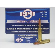 Prvi Partizan 6.5x54mm Mannlicher-Schoenauer 156 Gr. Soft Point RN- Box of 20