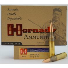 Hornady Match .338 Lapua Magnum 250 Gr. Hollow Point Boat Tail- Box of 20