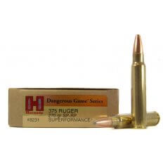 Hornady Dangerous Game SUPERFORMANCE .375 Ruger 270 Gr. Spire Point Recoil Proof- Box of 20