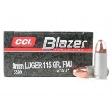 CCI Blazer 9mm 115 Gr. FMJ- Box of 50